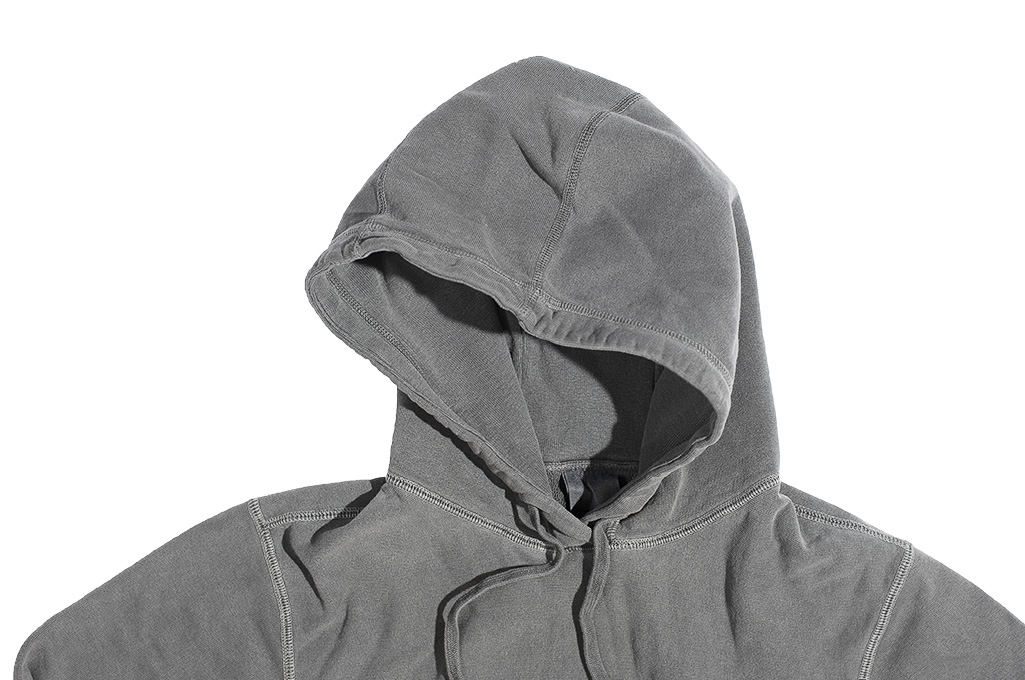 3sixteen Suffused Collection / Overdyed French Terry Pull-Over Hoodie - Aphotic Anthracite - Image 8