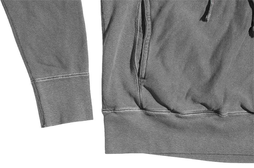 3sixteen Suffused Collection / Overdyed French Terry Pull-Over Hoodie - Aphotic Anthracite - Image 9