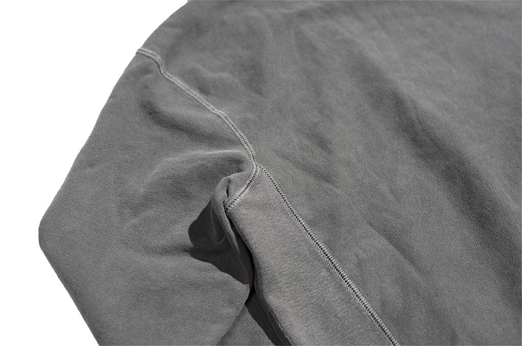 3sixteen Suffused Collection / Overdyed French Terry Pull-Over Hoodie - Aphotic Anthracite - Image 12