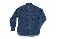 Studio D'Artisan Diamond Sashiko Shirt - Hard Washed Indigo - Image 6