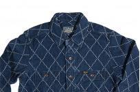 Studio D'Artisan Diamond Sashiko Shirt - Hard Washed Indigo - Image 9