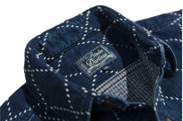 Studio D'Artisan Diamond Sashiko Shirt - Hard Washed Indigo - Image 10