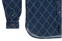Studio D'Artisan Diamond Sashiko Shirt - Hard Washed Indigo - Image 12