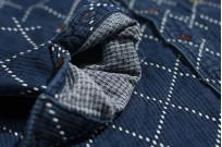 Studio D'Artisan Diamond Sashiko Shirt - Hard Washed Indigo - Image 13
