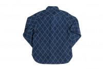 Studio D'Artisan Diamond Sashiko Shirt - Hard Washed Indigo - Image 16