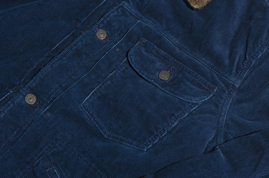 Studio D'Artisan Indigo-Dyed Cord Jacket - Image 5
