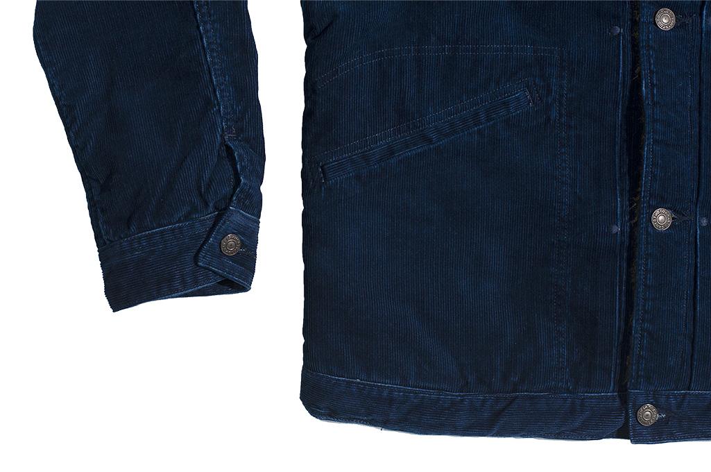 Studio D'Artisan Indigo-Dyed Cord Jacket - Image 9