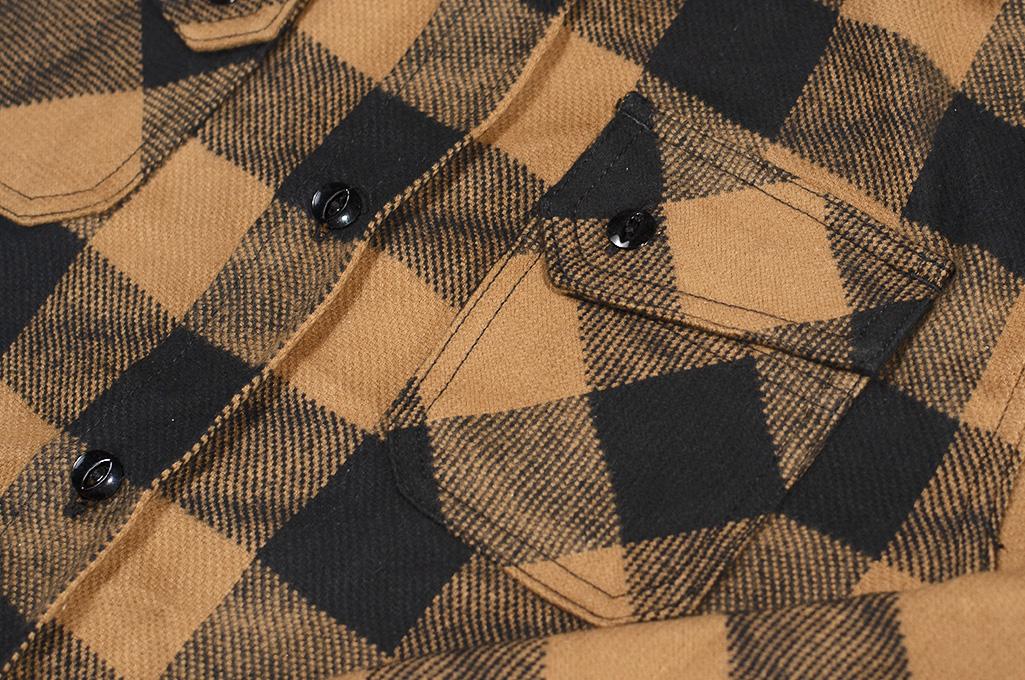 3sixteen Crosscut Flannel - Drunk Check Mustard - Image 6