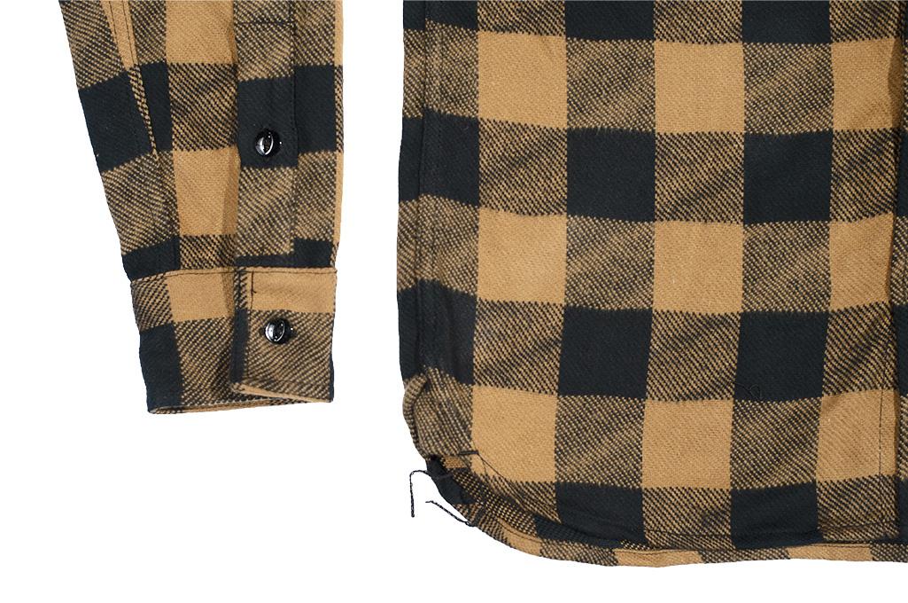 3sixteen Crosscut Flannel - Drunk Check Mustard - Image 8
