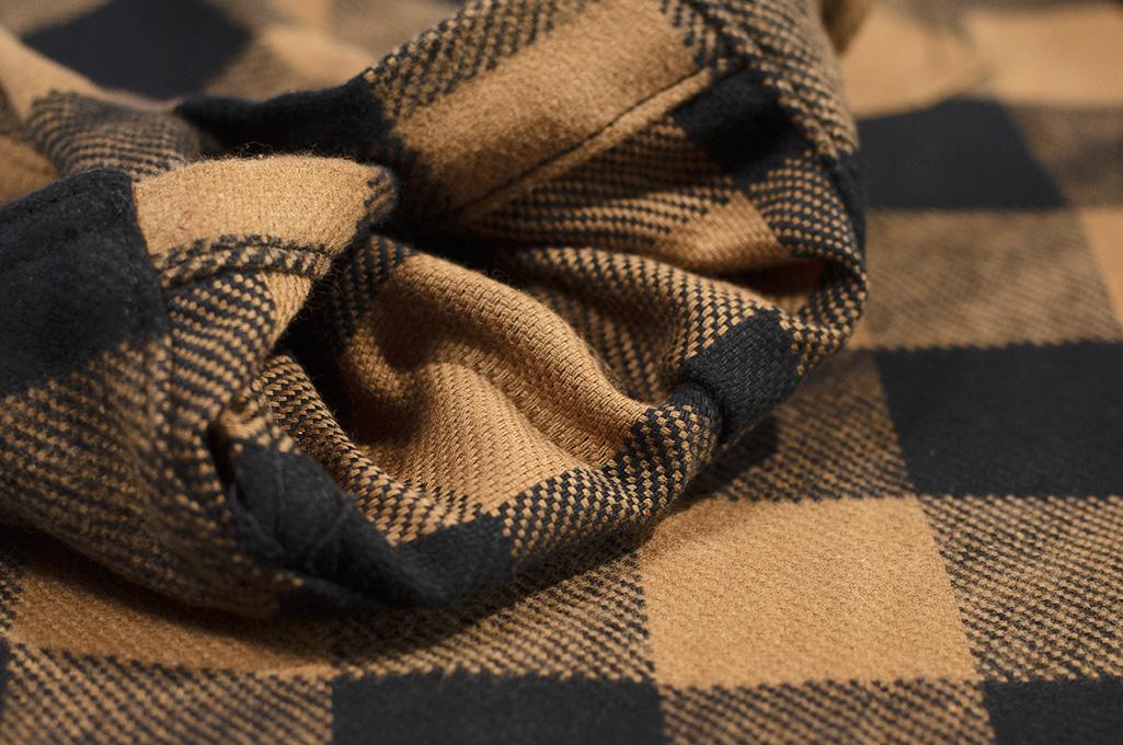 3sixteen Crosscut Flannel - Drunk Check Mustard - Image 9