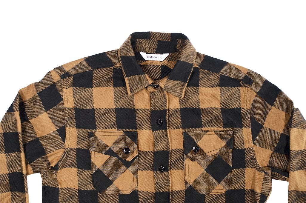 3sixteen Crosscut Flannel - Drunk Check Mustard - Image 11