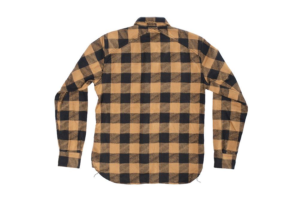 3sixteen Crosscut Flannel - Drunk Check Mustard - Image 13