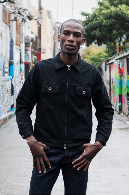 3sixteen Mechanic Jacket - Black Boiled Wool