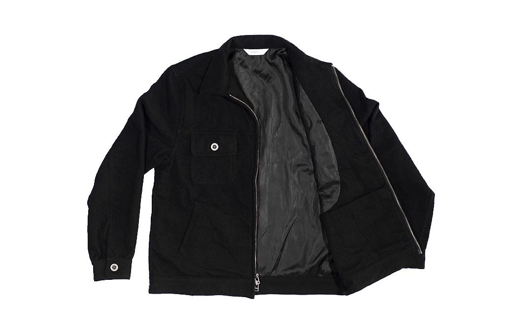 3sixteen Mechanic Jacket - Black Boiled Wool - Image 13