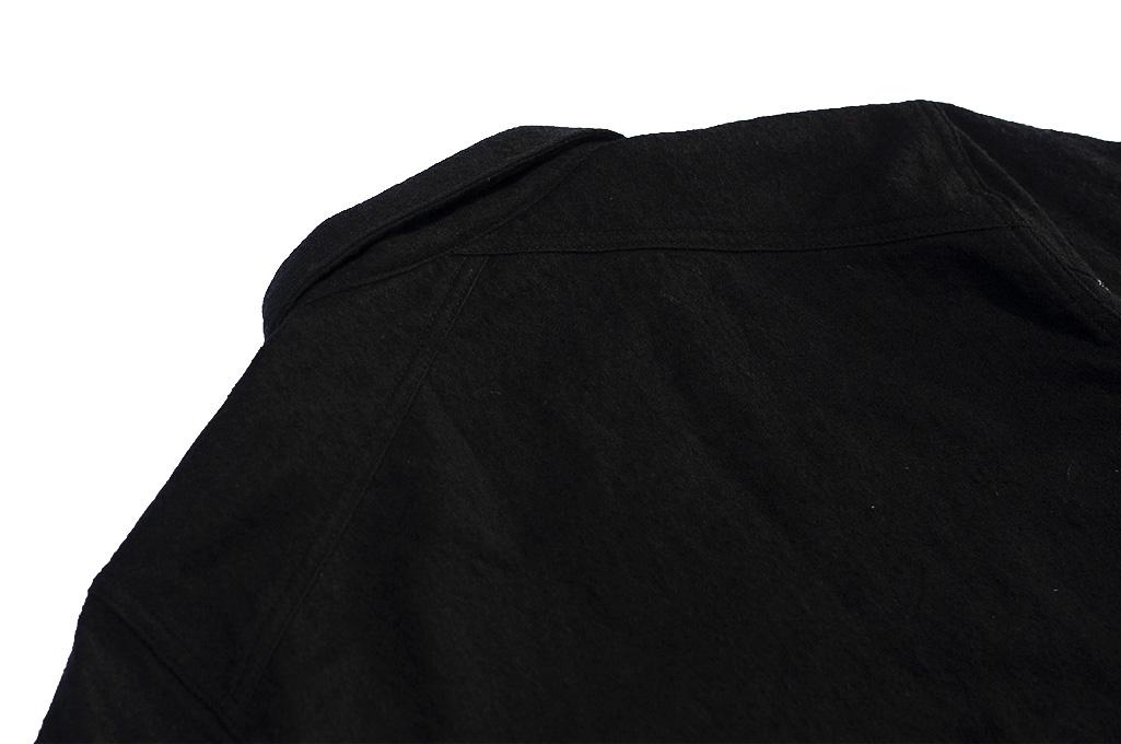 3sixteen Mechanic Jacket - Black Boiled Wool - Image 15