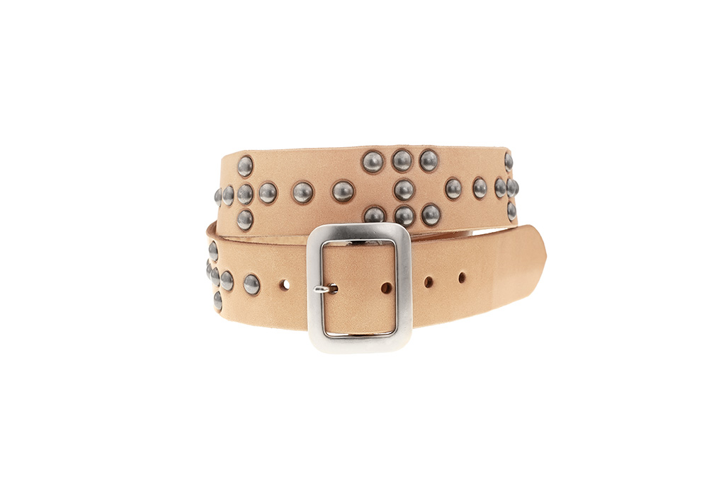 Sugar_Cane_Cowhide_Leather_Belt_Tan_Stud