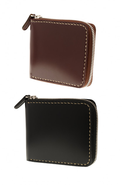 Iron Heart Zip-Secured Shell Cordovan Wallets