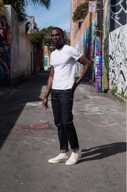 Studio D'Artisan G-003 15oz Slubby Denim Jeans - Slim Tapered Rinsed