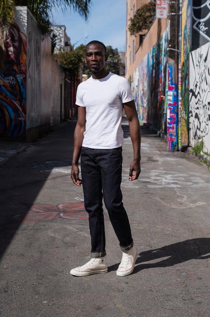 Studio D'Artisan G-003 15oz Slubby Denim Jeans - Slim Tapered Rinsed - Image 1