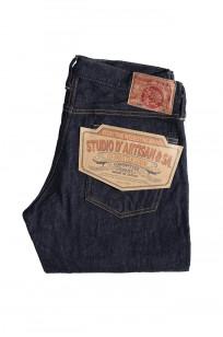 Studio D'Artisan G-003 15oz Slubby Denim Jeans - Slim Tapered Rinsed - Image 6