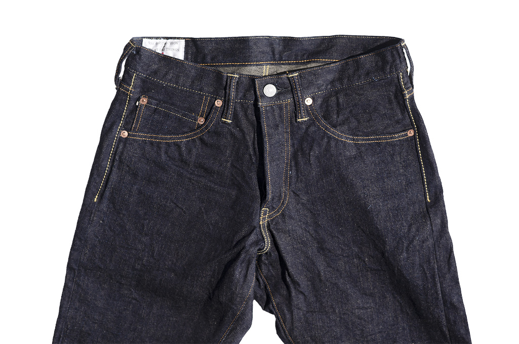 Studio D'Artisan G-003 15oz Slubby Denim Jeans - Slim Tapered Rinsed - Image 7