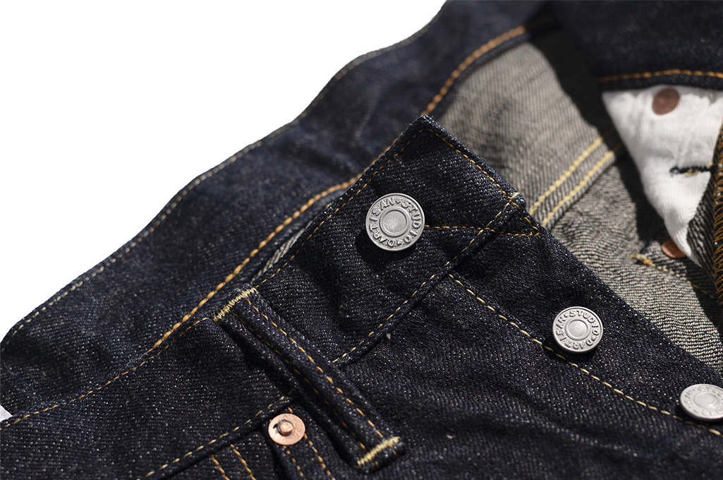 Studio D'Artisan G-003 15oz Slubby Denim Jeans - Slim Tapered Rinsed - Image 9