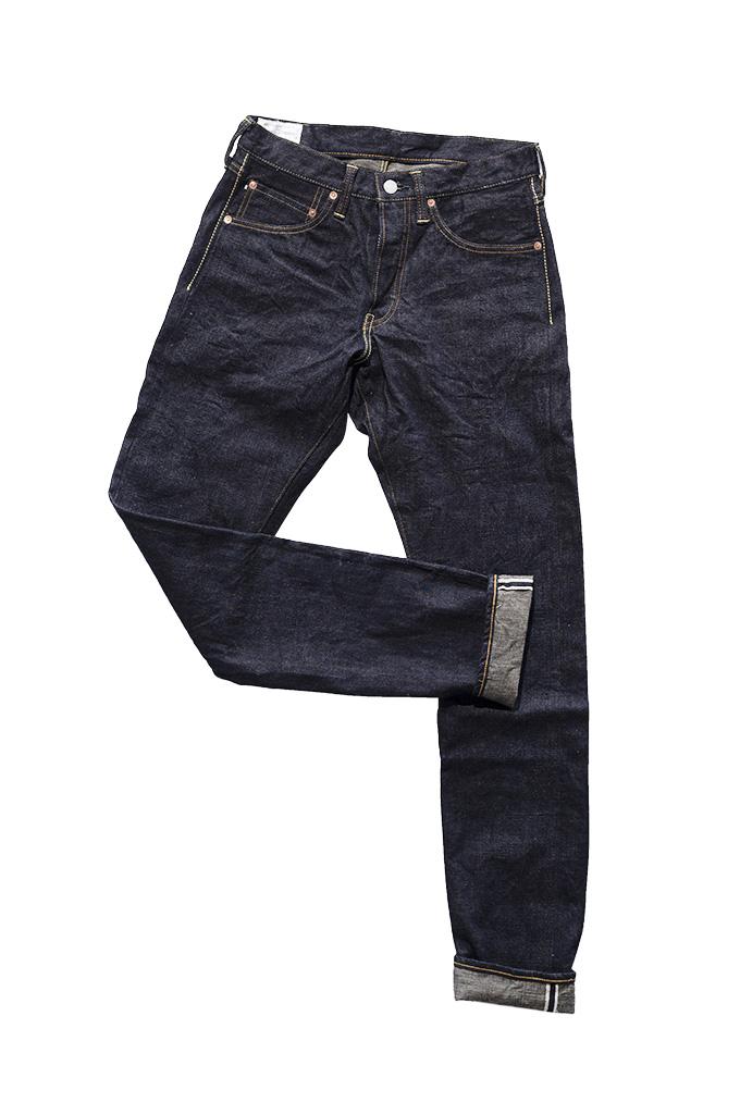 Studio D'Artisan G-003 15oz Slubby Denim Jeans - Slim Tapered Rinsed - Image 12