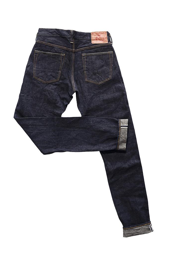 Studio D'Artisan G-003 15oz Slubby Denim Jeans - Slim Tapered Rinsed - Image 16
