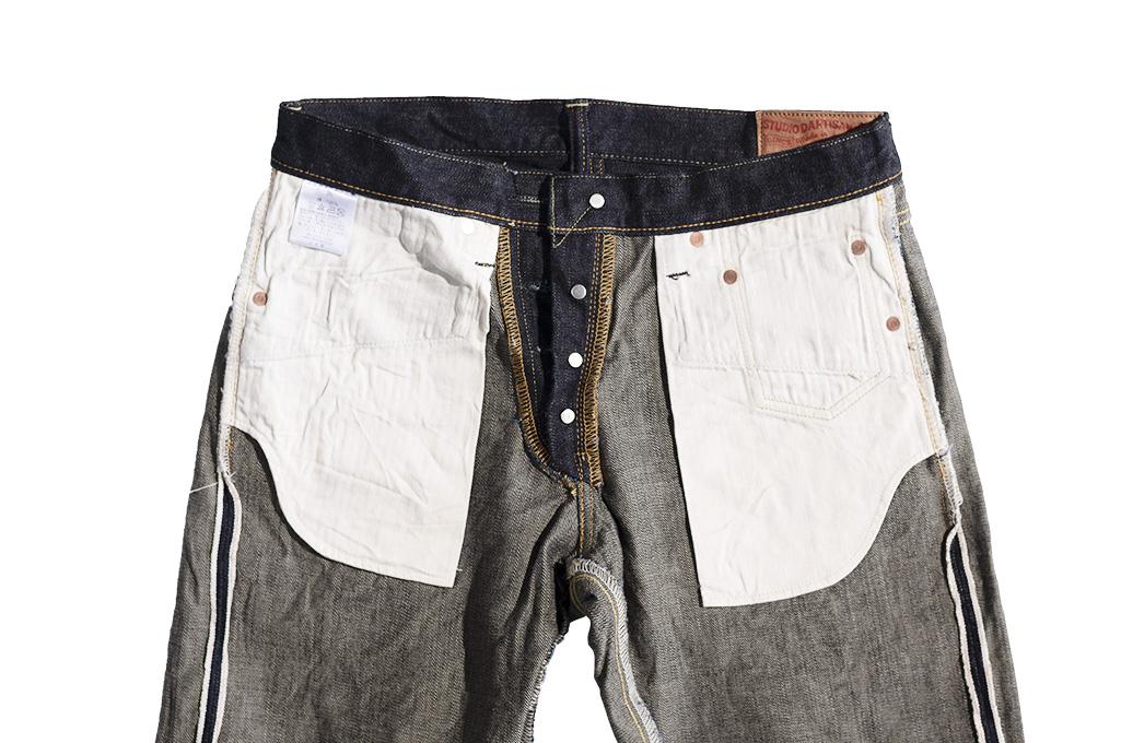 Studio D'Artisan G-003 15oz Slubby Denim Jeans - Slim Tapered Rinsed - Image 17