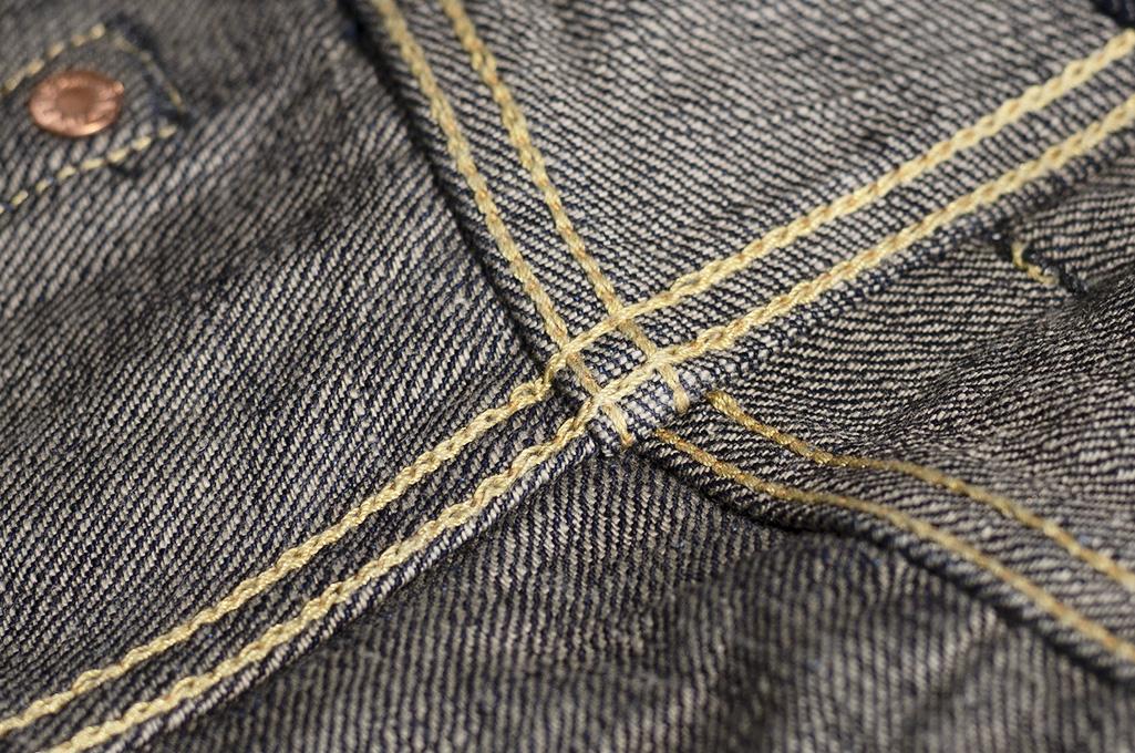 Studio D'Artisan G-003 15oz Slubby Denim Jeans - Slim Tapered Rinsed - Image 20