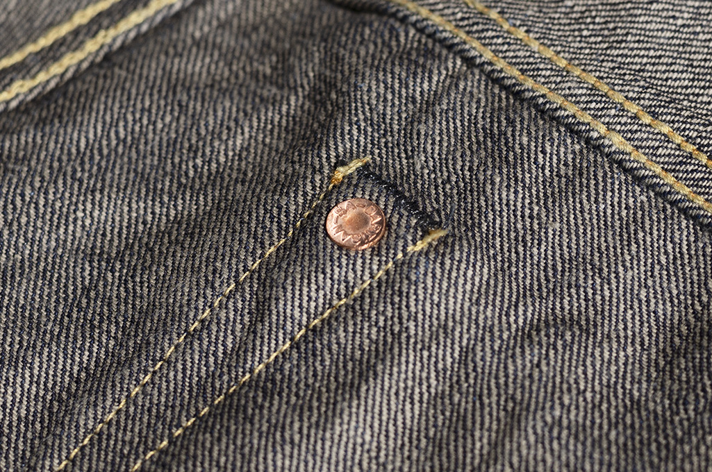 Studio D'Artisan G-003 15oz Slubby Denim Jeans - Slim Tapered Rinsed - Image 21