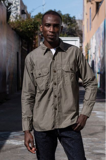 Mister Freedom Snipes Shirt - Olive Drab Poplin