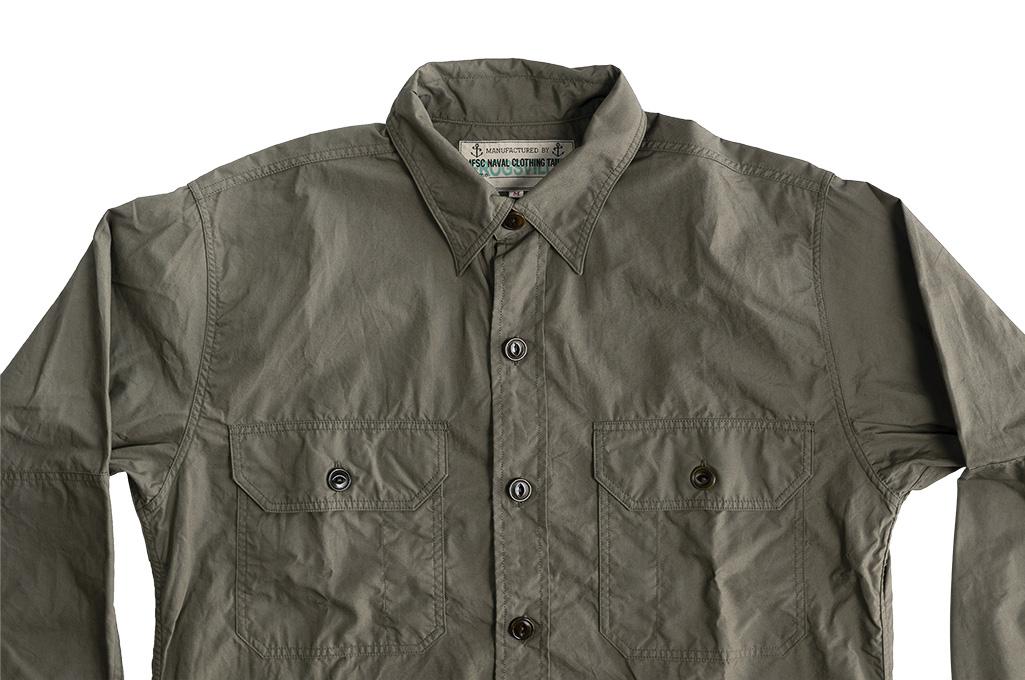 Mister Freedom Snipes Shirt - Olive Drab Poplin - Image 11