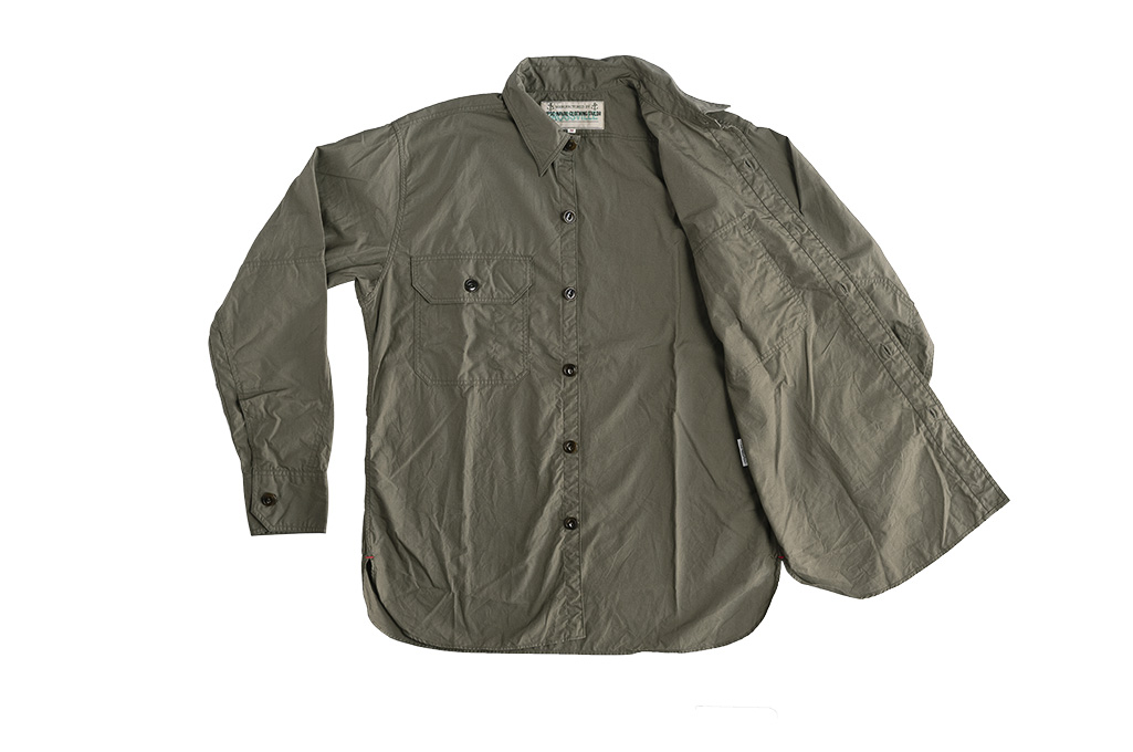 Mister Freedom Snipes Shirt - Olive Drab Poplin - Image 12