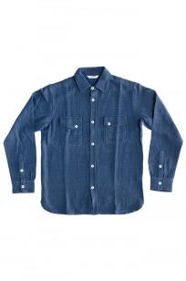 3sixteen Crosscut Shirt - Handloom Indigo Grid - Image 0