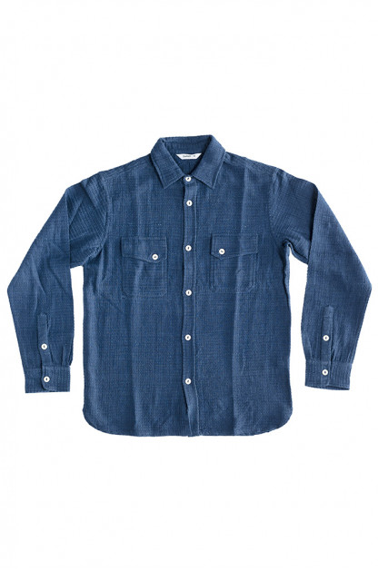 3sixteen Crosscut Shirt - Handloom Indigo Grid
