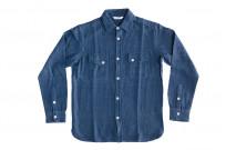 3sixteen Crosscut Shirt - Handloom Indigo Grid - Image 1