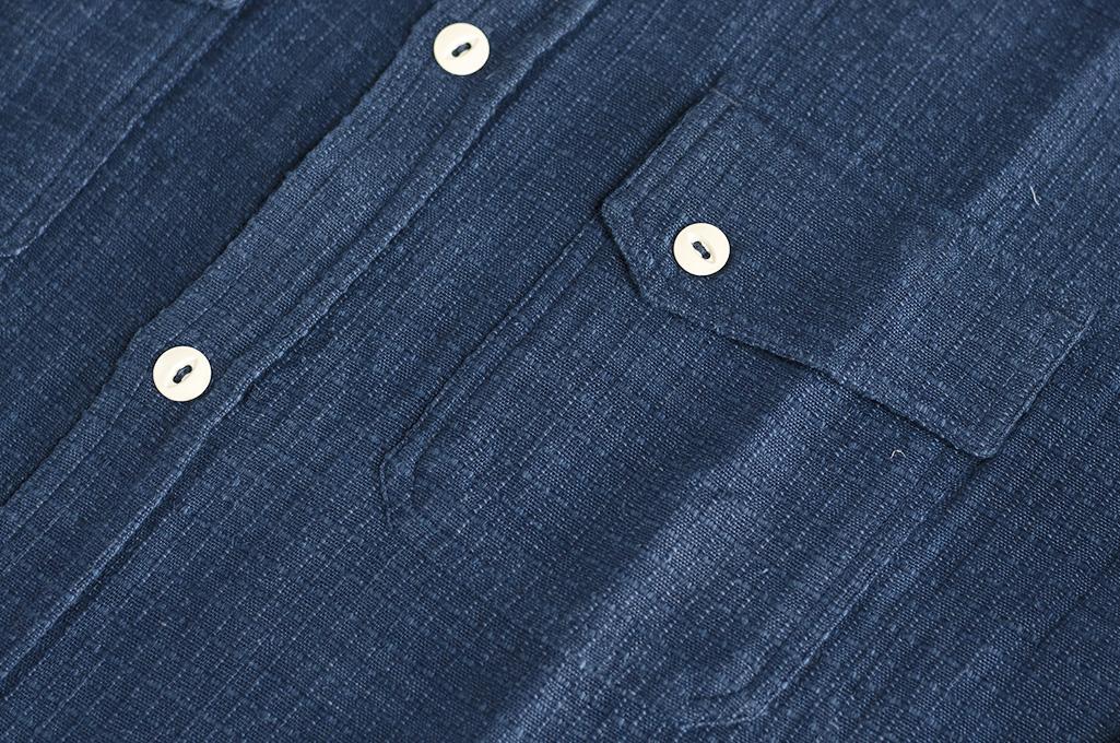 3sixteen Crosscut Shirt - Handloom Indigo Grid - Image 2