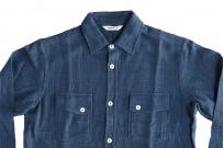 3sixteen Crosscut Shirt - Handloom Indigo Grid - Image 3