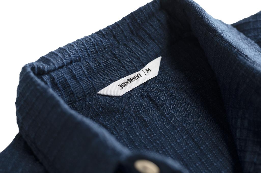 3sixteen Crosscut Shirt - Handloom Indigo Grid - Image 4