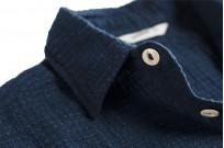 3sixteen Crosscut Shirt - Handloom Indigo Grid - Image 5