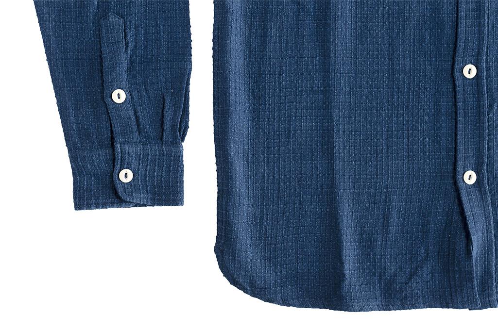 3sixteen Crosscut Shirt - Handloom Indigo Grid - Image 6