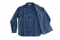 3sixteen Crosscut Shirt - Handloom Indigo Grid - Image 8