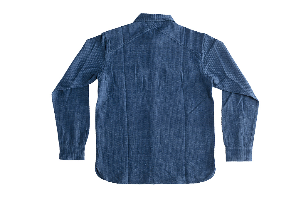 3sixteen Crosscut Shirt - Handloom Indigo Grid - Image 9