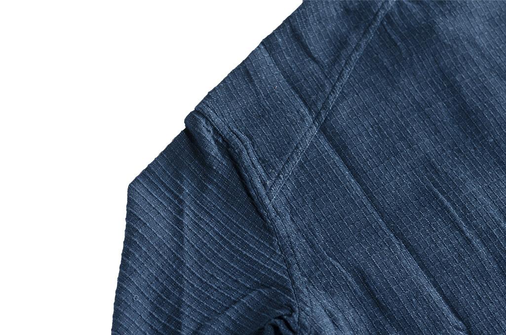 3sixteen Crosscut Shirt - Handloom Indigo Grid - Image 10