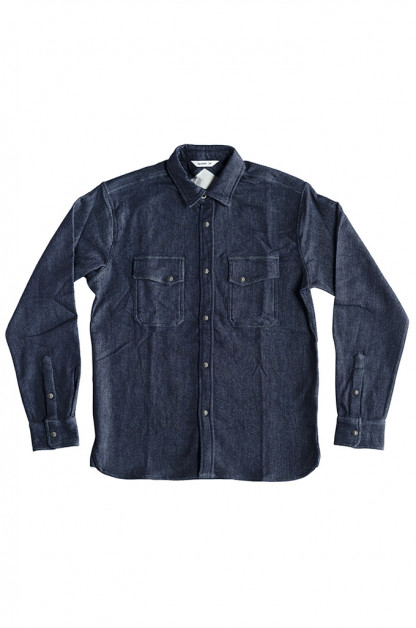 3sixteen Crosscut Shirt - Indigo Knit