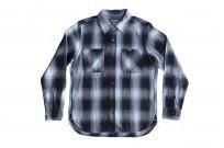 Iron Heart 9oz Selvedge Ombre Check Work Shirt - Indigo - Image 1