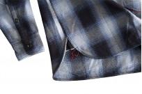Iron Heart 9oz Selvedge Ombre Check Work Shirt - Indigo - Image 5