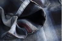 Iron Heart 9oz Selvedge Ombre Check Work Shirt - Indigo - Image 6
