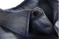Iron Heart 9oz Selvedge Ombre Check Work Shirt - Indigo - Image 7